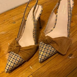 Plaid Kate Spade High Heels with Bow